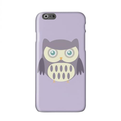 Chubby Purple Owl Solid White Hard Case Cover for Apple iPhone 6 Plus