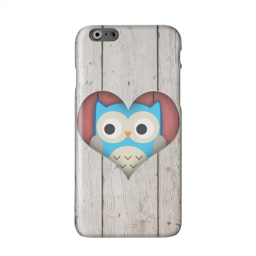 Peek A Blue Owl Solid White Hard Case Cover for Apple iPhone 6 PLUS/6S PLUS (5.5 inch)