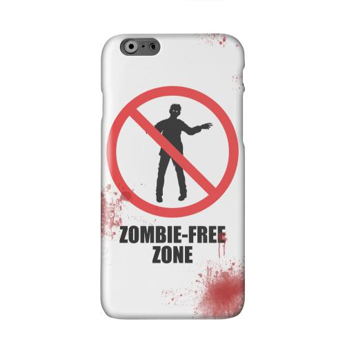 Zombie-Free Zone Solid White Hard Case Cover for Apple iPhone 6 PLUS/6S PLUS (5.5 inch)
