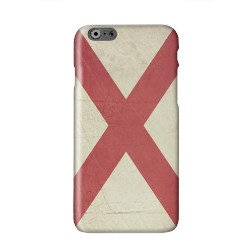 Grunge Alabama Solid White Hard Case Cover for Apple iPhone 6 PLUS/6S PLUS (5.5 inch)
