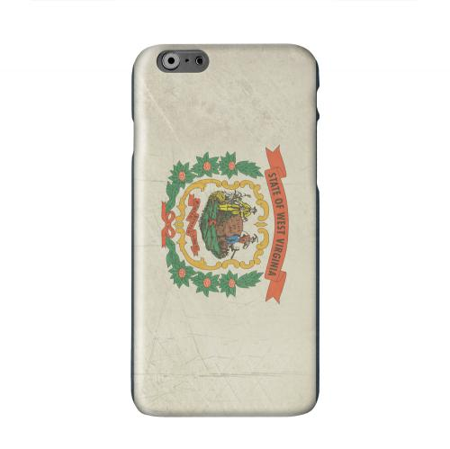 Grunge West Virginia Solid White Hard Case Cover for Apple iPhone 6 PLUS/6S PLUS (5.5 inch)