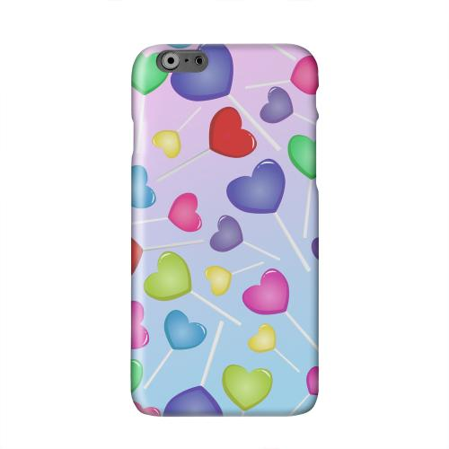 Assorted Heart Lollipops Solid White Hard Case Cover for Apple iPhone 6 PLUS/6S PLUS (5.5 inch)