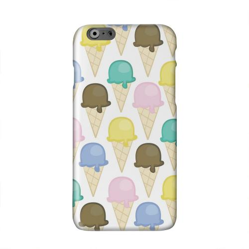 Assorted Ice Cream Cones Solid White Hard Case Cover for Apple iPhone 6 PLUS/6S PLUS (5.5 inch)