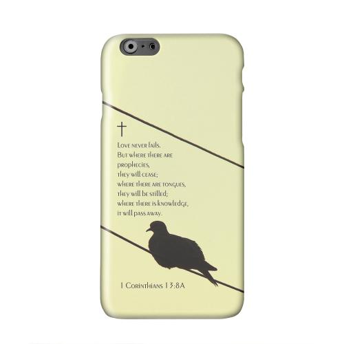 Corinthians 13:8A  Solid White Hard Case Cover for Apple iPhone 6 PLUS/6S PLUS (5.5 inch)