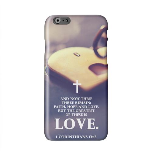 Corinthians 13:13 Solid White Hard Case Cover for Apple iPhone 6 PLUS/6S PLUS (5.5 inch)