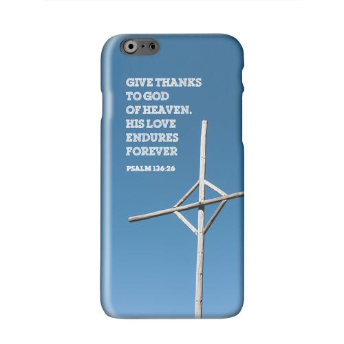 Psalm 136:26  Solid White Hard Case Cover for Apple iPhone 6 PLUS/6S PLUS (5.5 inch)