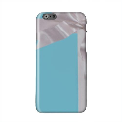 Turquoise Gift w/ White Satin Bow Solid White Hard Case Cover for Apple iPhone 6 PLUS/6S PLUS (5.5 inch)