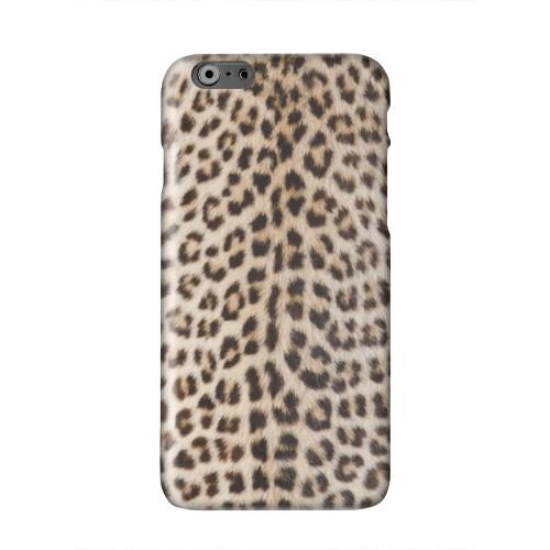 Leopard Print Solid White Hard Case Cover for Apple iPhone 6 PLUS/6S PLUS (5.5 inch)