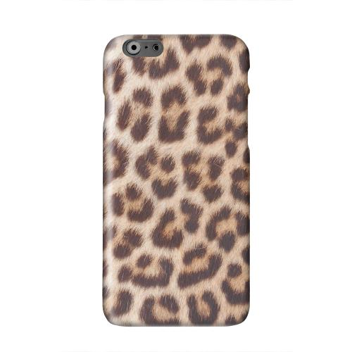 Leopard Close-Up Solid White Hard Case Cover for Apple iPhone 6 PLUS/6S PLUS (5.5 inch)