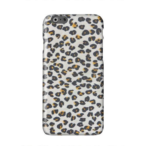 Albino Leopard Print Solid White Hard Case Cover for Apple iPhone 6 PLUS/6S PLUS (5.5 inch)