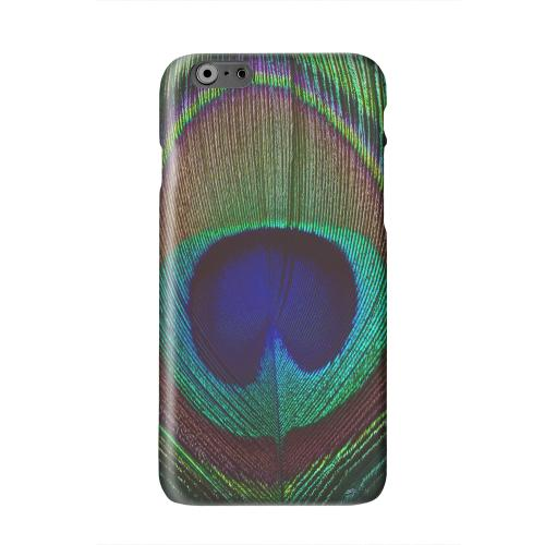 Colorful Peacock Feather Solid White Hard Case Cover for Apple iPhone 6 PLUS/6S PLUS (5.5 inch)