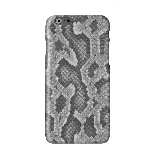 Gray Snake Skin Solid White Hard Case Cover for Apple iPhone 6 PLUS/6S PLUS (5.5 inch)