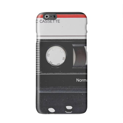 Black Cassette Close Up Solid White Hard Case Cover for Apple iPhone 6 PLUS/6S PLUS (5.5 inch)