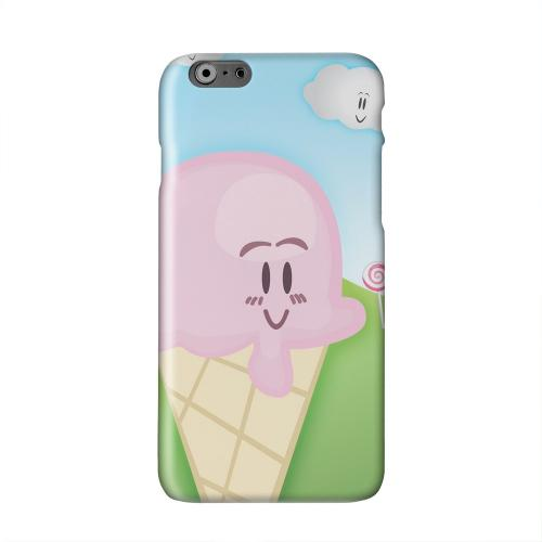 Cute Pink Ice Cream Cone Solid White Hard Case Cover for Apple iPhone 6 PLUS/6S PLUS (5.5 inch)