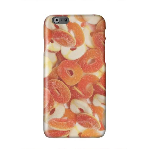 Orange/White Gummy Rings Solid White Hard Case Cover for Apple iPhone 6 PLUS/6S PLUS (5.5 inch)