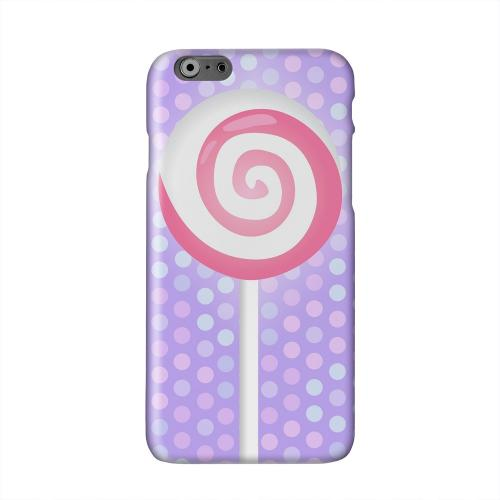 Pink Lollipop Solid White Hard Case Cover for Apple iPhone 6 PLUS/6S PLUS (5.5 inch)