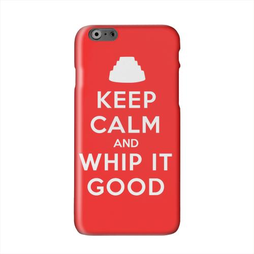 Red Whip It Good Solid White Hard Case Cover for Apple iPhone 6 PLUS/6S PLUS (5.5 inch)