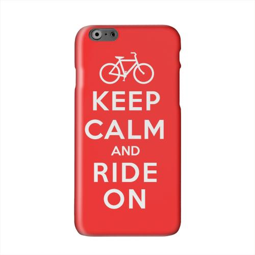 Red Ride On Solid White Hard Case Cover for Apple iPhone 6 PLUS/6S PLUS (5.5 inch)