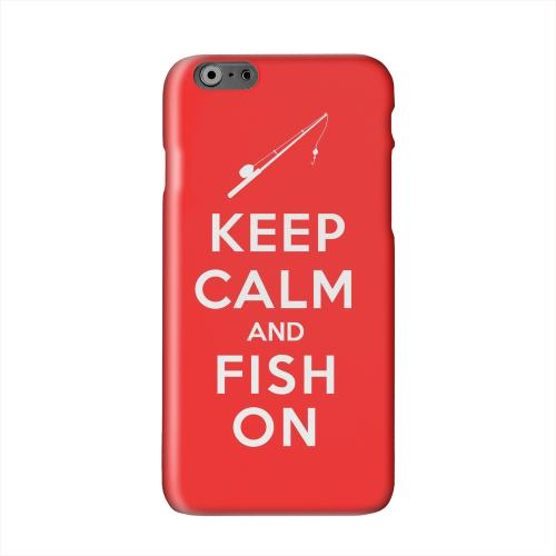 Red Fish On Solid White Hard Case Cover for Apple iPhone 6 PLUS/6S PLUS (5.5 inch)