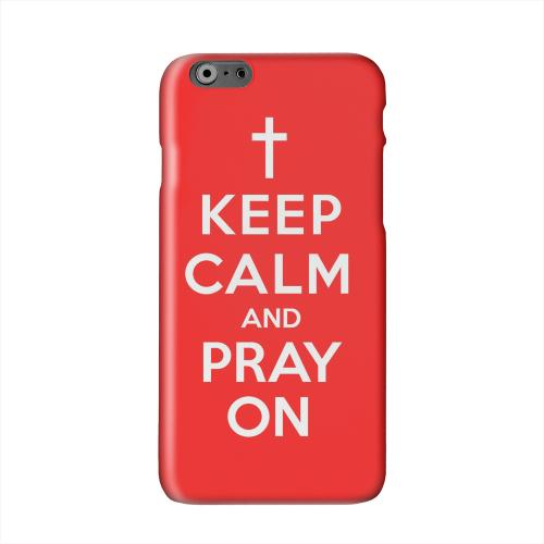 Red Pray On Solid White Hard Case Cover for Apple iPhone 6 PLUS/6S PLUS (5.5 inch)