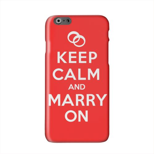 Red Marry On Solid White Hard Case Cover for Apple iPhone 6 PLUS/6S PLUS (5.5 inch)