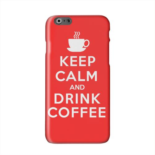Red Drink Coffee Solid White Hard Case Cover for Apple iPhone 6 PLUS/6S PLUS (5.5 inch)