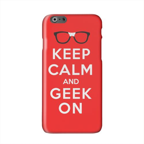 Red Geek On Solid White Hard Case Cover for Apple iPhone 6 PLUS/6S PLUS (5.5 inch)