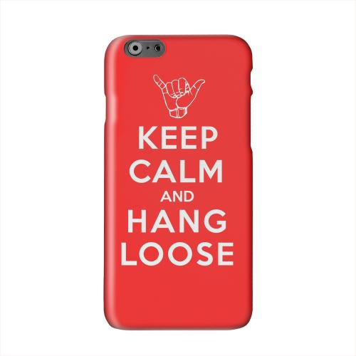 Red Hang Loose Solid White Hard Case Cover for Apple iPhone 6 PLUS/6S PLUS (5.5 inch)