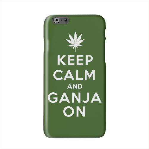 Green Ganja On Solid White Hard Case Cover for Apple iPhone 6 PLUS/6S PLUS (5.5 inch)