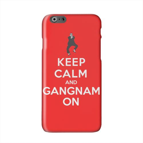 Red Gangnam On Solid White Hard Case Cover for Apple iPhone 6 PLUS/6S PLUS (5.5 inch)