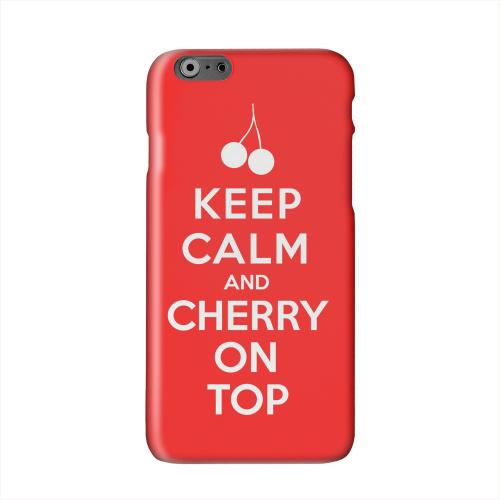 Red Cherry On Top Solid White Hard Case Cover for Apple iPhone 6 PLUS/6S PLUS (5.5 inch)