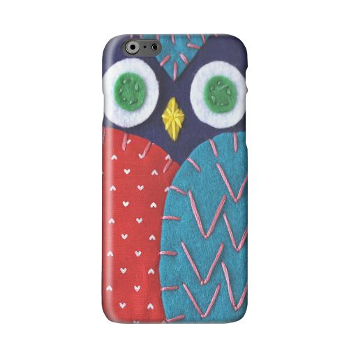 Dark Blue/ Red Owl Solid White Hard Case Cover for Apple iPhone 6 PLUS/6S PLUS (5.5 inch)