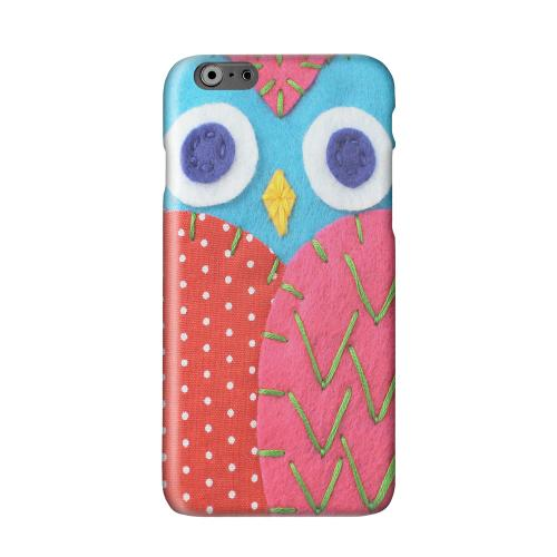 Sky Blue/ Pink Owl Solid White Hard Case Cover for Apple iPhone 6 PLUS/6S PLUS (5.5 inch)