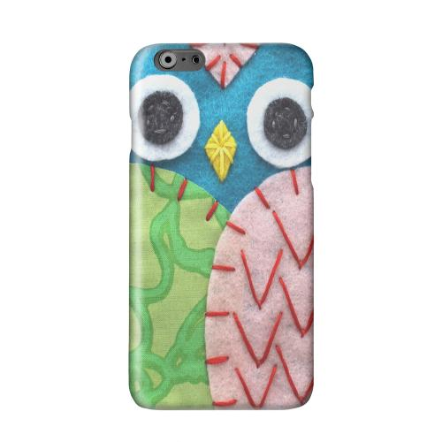 Blue/ Green Owl Solid White Hard Case Cover for Apple iPhone 6 PLUS/6S PLUS (5.5 inch)