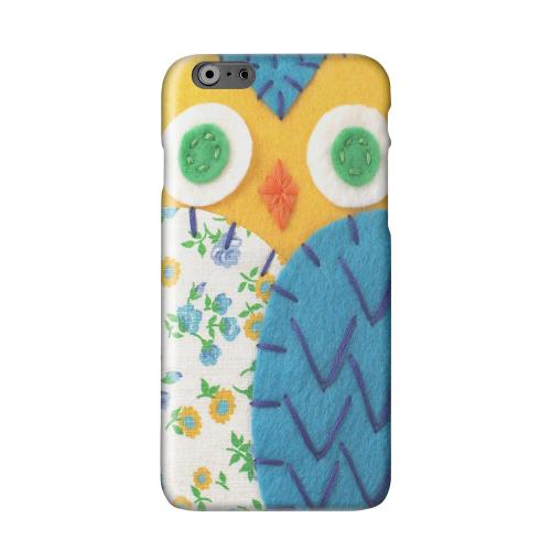 Gold/ Blue Owl Solid White Hard Case Cover for Apple iPhone 6 PLUS/6S PLUS (5.5 inch)