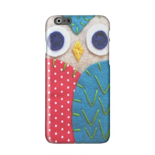 White/ Blue Owl Solid White Hard Case Cover for Apple iPhone 6 PLUS/6S PLUS (5.5 inch)