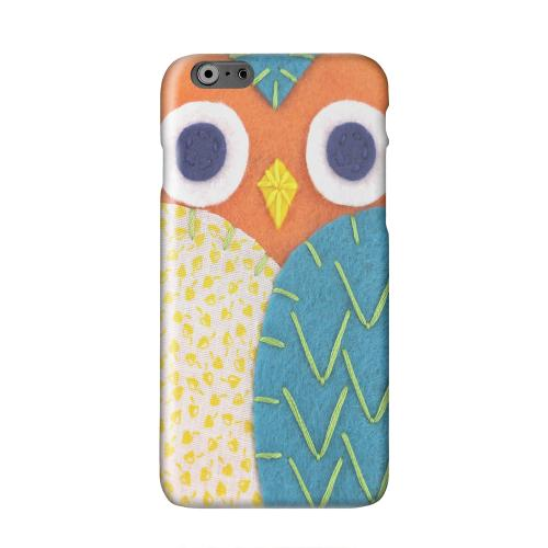 Orange/ Blue Owl Solid White Hard Case Cover for Apple iPhone 6 PLUS/6S PLUS (5.5 inch)