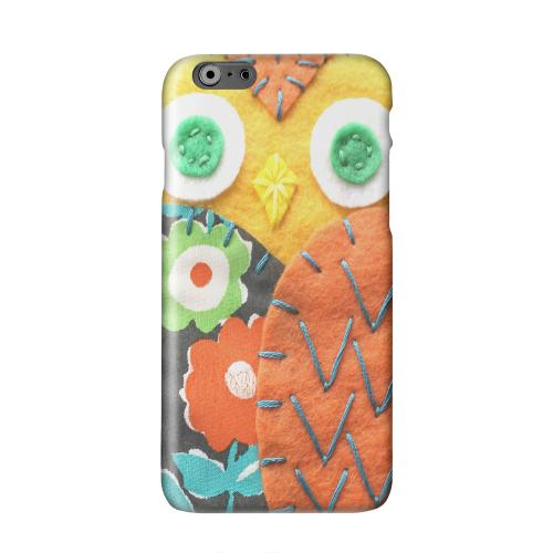 Yellow/ Orange Owl Solid White Hard Case Cover for Apple iPhone 6 PLUS/6S PLUS (5.5 inch)