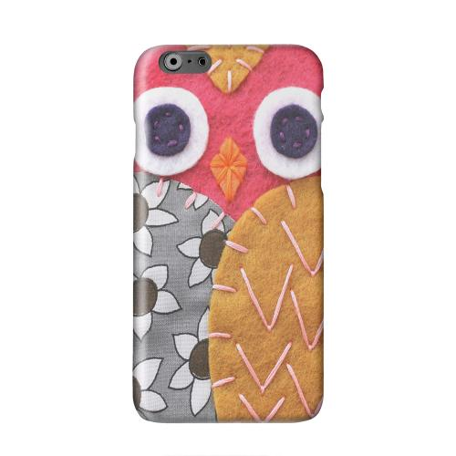 Hot Pink/ Dark Blue Owl Solid White Hard Case Cover for Apple iPhone 6 PLUS/6S PLUS (5.5 inch)