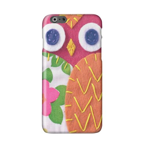 Hot Pink/ Green Owl Solid White Hard Case Cover for Apple iPhone 6 PLUS/6S PLUS (5.5 inch)