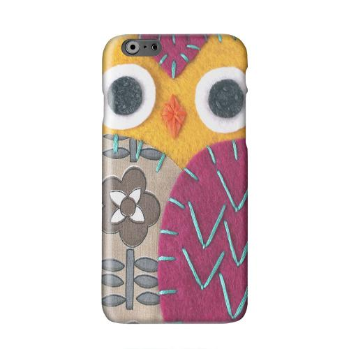 Yellow/ Purple Owl Solid White Hard Case Cover for Apple iPhone 6 PLUS/6S PLUS (5.5 inch)