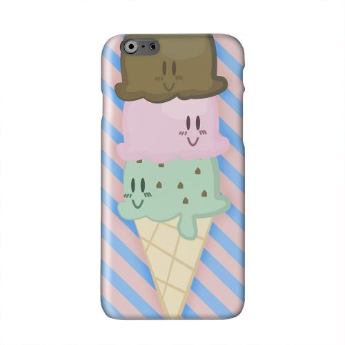 Triple Scoop Ice Cream Cone Solid White Hard Case Cover for Apple iPhone 6 PLUS/6S PLUS (5.5 inch)