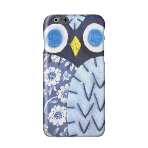 Night Blue Owl Solid White Hard Case Cover for Apple iPhone 6 PLUS/6S PLUS (5.5 inch)