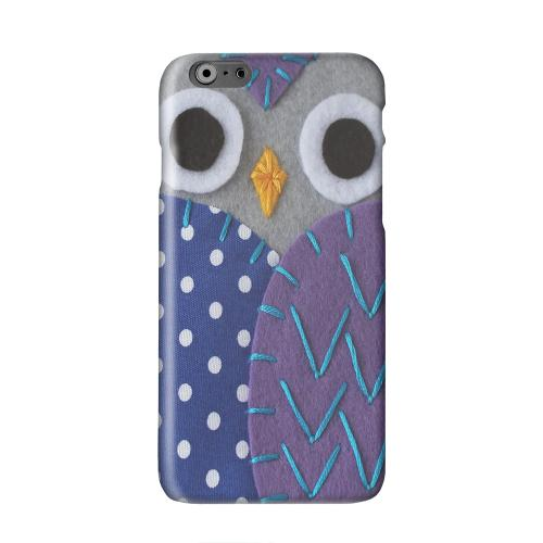 Gray/ Purple Owl Solid White Hard Case Cover for Apple iPhone 6 PLUS/6S PLUS (5.5 inch)