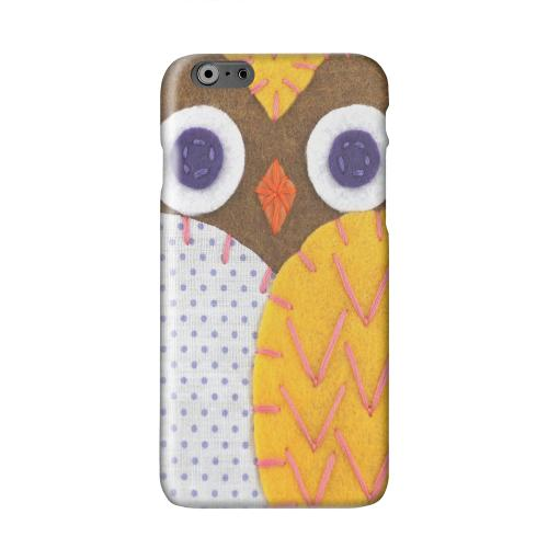 Brown/ Orange Owl Solid White Hard Case Cover for Apple iPhone 6 PLUS/6S PLUS (5.5 inch)