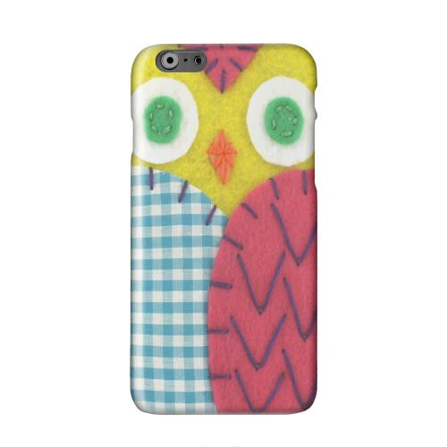 Yellow/ Maroon Owl Solid White Hard Case Cover for Apple iPhone 6 PLUS/6S PLUS (5.5 inch)