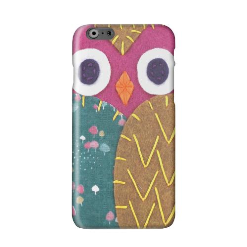 Hot Pink/ Brown Owl Solid White Hard Case Cover for Apple iPhone 6 PLUS/6S PLUS (5.5 inch)