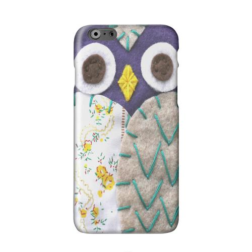 Blue/ Gray Owl Solid White Hard Case Cover for Apple iPhone 6 PLUS/6S PLUS (5.5 inch)