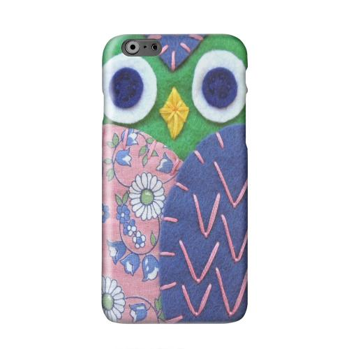 Green/ Blue Owl Solid White Hard Case Cover for Apple iPhone 6 PLUS/6S PLUS (5.5 inch)
