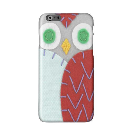 Gray/ Red Owl Solid White Hard Case Cover for Apple iPhone 6 PLUS/6S PLUS (5.5 inch)